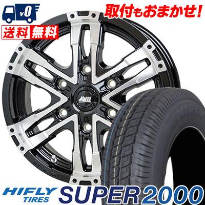 215/65R16C 109/107T HIFLY ハイフライ SUPER2000 スーパー ニセン MAD CROSS WOLF マッドクロス ウルフ サマータイヤホイール4本セット for 200系ハイエース