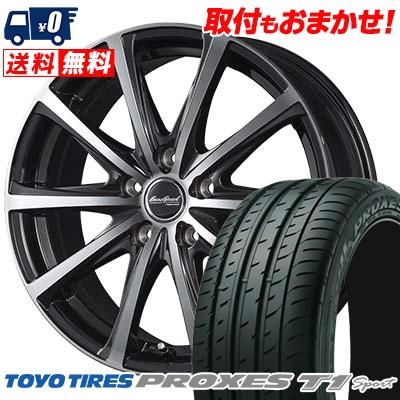 215/55R16 TOYO TIRES トーヨー タイヤ PROXES T1 sport プロクセス T1スポーツ EuroSpeed V25 ユーロスピード V25 サマータイヤホイール4本セット