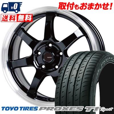 215/55R16 97Y TOYO TIRES トーヨー タイヤ PROXES T1 sport プロクセス T1スポーツ G.speed P-03 ジースピード P-03 サマータイヤホイール4本セット