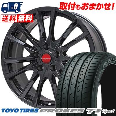 225/55R16 TOYO TIRES トーヨー タイヤ PROXES T1 Sport プロクセス T1スポーツ LeyBahn GBX レイバーン GBX サマータイヤホイール4本セット