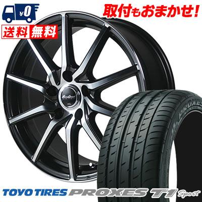 205/55R16 94W TOYO TIRES トーヨー タイヤ PROXES T1 sport プロクセス T1スポーツ EuroSpeed S810 ユーロスピード S810 サマータイヤホイール4本セット