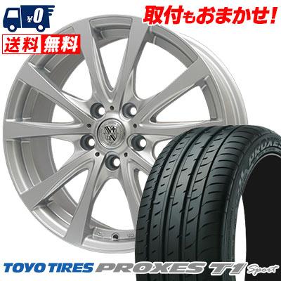 205/55R16 94W TOYO TIRES トーヨー タイヤ PROXES T1 sport プロクセス T1スポーツ TRG-SILBAHN TRG シルバーン サマータイヤホイール4本セット