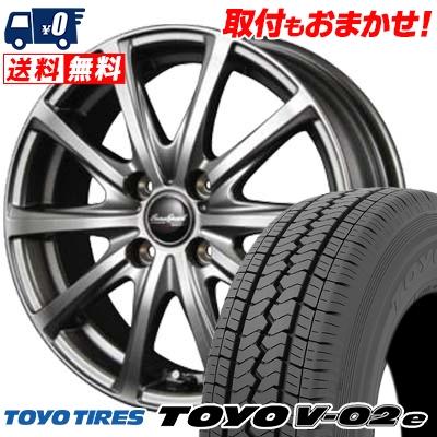 145R12 6PR TOYO TIRES トーヨータイヤ V02e ブイゼロツーイー EuroSpeed V25 ユーロスピード V25 サマータイヤホイール4本セット