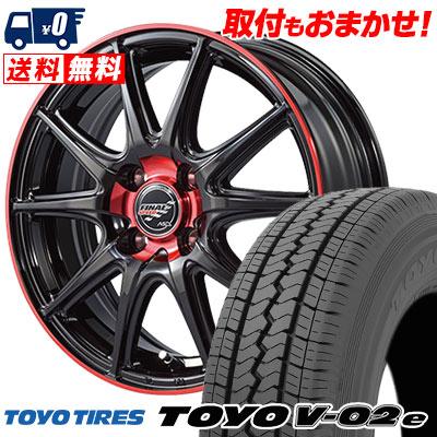 165/80R14 91/90N TOYO TIRES トーヨー タイヤ V02e ブイゼロツーイー FINALSPEED GR-Volt ファイナルスピード GRボルト サマータイヤホイール4本セット