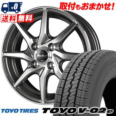 145/80R12 80/78N TOYO TIRES トーヨー タイヤ V02e ブイゼロツーイー EuroSpeed S810 ユーロスピード S810 サマータイヤホイール4本セット