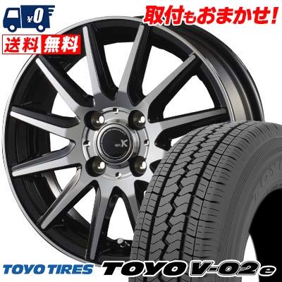 155R12 8PR TOYO TIRES トーヨータイヤ V02e ブイゼロツーイー spec K スペックK サマータイヤホイール4本セット