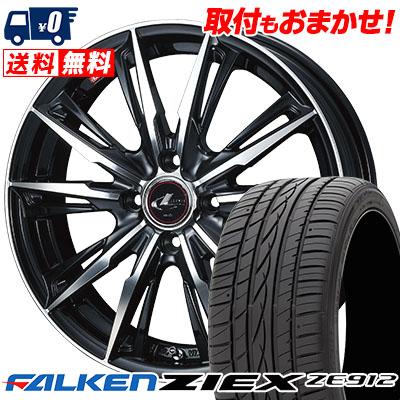 185/65R14 86H FALKEN ファルケン ZIEX ZE912 ジークス ZE912 WEDS LEONIS GX ウェッズ レオニス GX サマータイヤホイール4本セット