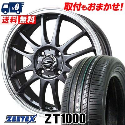 195/55R15 85V ZEETEX ジーテックス ZT1000 ZT1000 BADX S-HOLD LAGUNA バドックス エスホールド ラグナ サマータイヤホイール4本セット