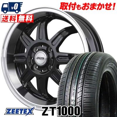165/40R16 73V XL ZEETEX ジーテックス ZT1000 ZT1000 BADX D.O.S. DEEP RIVAGE バドックス D.O.S ディープリヴァージュ サマータイヤホイール4本セット