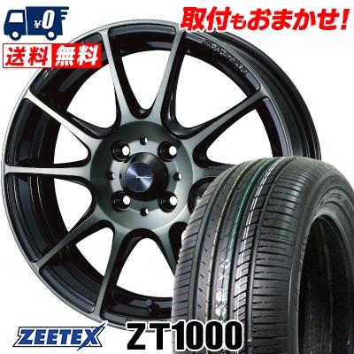 185/65R15 88H ZEETEX ジーテックス ZT1000 ZT1000 WedsSport SA-25R ウェッズスポーツ SA-25R サマータイヤホイール4本セット