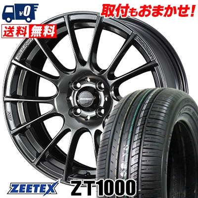 185/55R15 82V ZEETEX ジーテックス ZT1000 ZT1000 WedsSport SA-72R ウェッズスポーツ SA-72R サマータイヤホイール4本セット