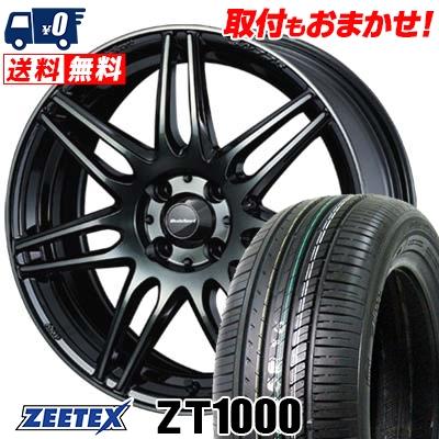 185/55R15 82V ZEETEX ジーテックス ZT1000 ZT1000 wedsSport SA-77R ウェッズスポーツ SA-77R サマータイヤホイール4本セット