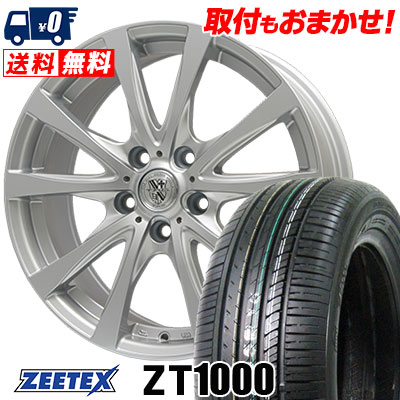 215/65R15 100V XL ZEETEX ジーテックス ZT1000 ZT1000 TRG-SILBAHN TRG シルバーン サマータイヤホイール4本セット