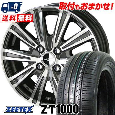 185/70R14 88H ZEETEX ジーテックス ZT1000 ZT1000 SMACK SPARROW スマック スパロー サマータイヤホイール4本セット