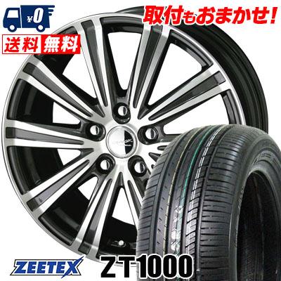 215/65R15 100V XL ZEETEX ジーテックス ZT1000 ZT1000 SMACK SPARROW スマック スパロー サマータイヤホイール4本セット