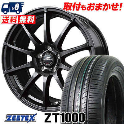 215/65R15 100V XL ZEETEX ジーテックス ZT1000 ZT1000 SCHNEDER StaG シュナイダー スタッグ サマータイヤホイール4本セット