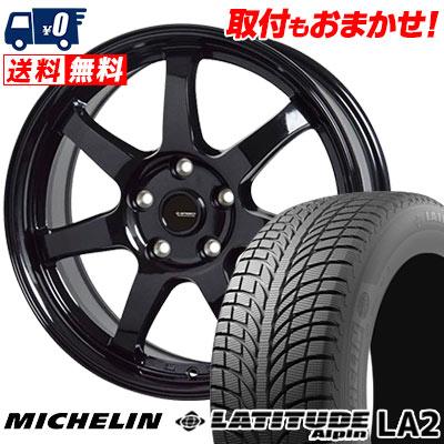 215/55R18 99H XL MICHELIN ミシュラン LATITUDE ALPIN LA2 ラティチュード アルペン LA2 G.speed G-03 Gスピード G-03 ウインタータイヤホイール4本セット