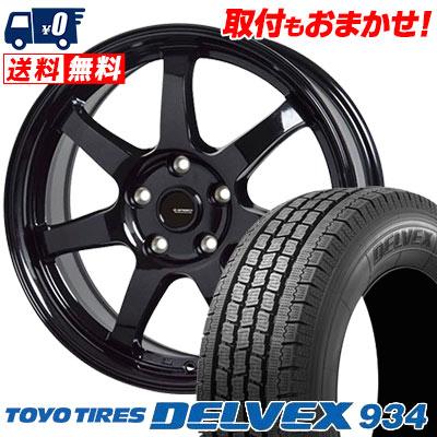 195/70R15 106/104 TOYO TIRES トーヨータイヤ DELVEX 934 デルベックス 934 G.speed G-03 Gスピード G-03 スタッドレスタイヤホイール4本セット