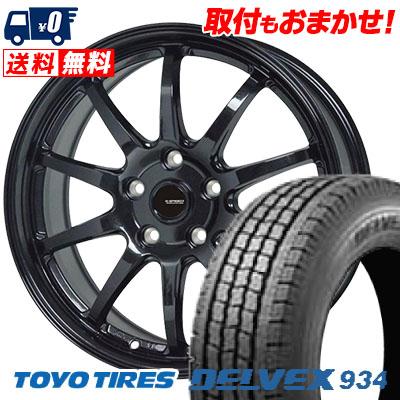195/70R15 106/104 TOYO TIRES トーヨータイヤ DELVEX 934 デルベックス 934 G.speed G-04 Gスピード G-04 スタッドレスタイヤホイール4本セット