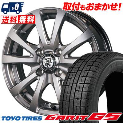 155/65R13 TOYO TIRES トーヨータイヤ GARIT G5 ガリット G5 TRG-BAHN TRG バーン スタッドレスタイヤホイール4本セット
