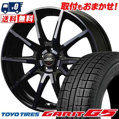 205/60R16 TOYO TIRES トーヨータイヤ GARIT G5 ガリット G5 SCHNEIDER DR-01 シュナイダー DR-01 スタッドレスタイヤホイール4本セット