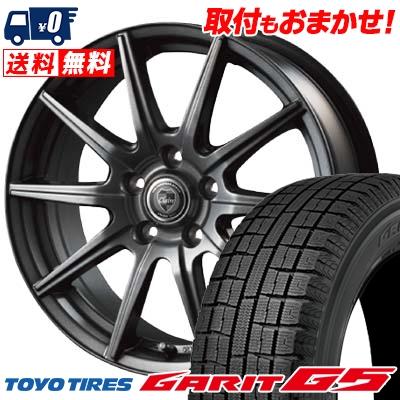 195/65R15 TOYO TIRES トーヨータイヤ GARIT G5 ガリット G5 CLAIRE GS10 クレール GS10 スタッドレスタイヤホイール4本セット