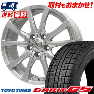 195/65R15 91Q TOYO TIRES トーヨータイヤ GARIT G5 ガリット G5 TRG-SILBAHN TRG シルバーン スタッドレスタイヤホイール4本セット