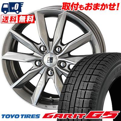 195/65R15 91Q TOYO TIRES トーヨータイヤ GARIT G5 ガリット G5 SEIN SV ザイン エスブイ スタッドレスタイヤホイール4本セット