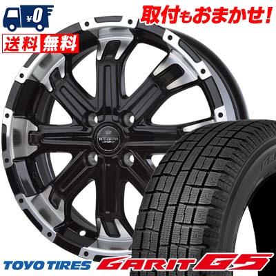165/55R15 TOYO TIRES トーヨータイヤ GARIT G5 ガリット G5 BADX LOXARNY BATTLESHIP4 バドックス ロクサーニ バトルシップ4 スタッドレスタイヤホイール4本セット