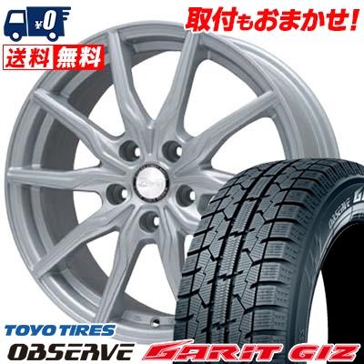205/65R15 TOYO TIRES トーヨータイヤ OBSERVE GARIT GIZ オブザーブ ガリット ギズ B-WIN KRX B-WIN KRX スタッドレスタイヤホイール4本セット