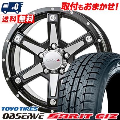 215/60R16 TOYO TIRES トーヨータイヤ OBSERVE GARIT GIZ オブザーブ ガリット ギズ MKW MK-56 MKW MK-56 スタッドレスタイヤホイール4本セット