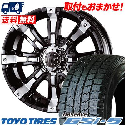 265/70R16 TOYO TIRES トーヨータイヤ OBSERVE GSi-5 オブザーブ GSi5 MG BEAST MG ビースト スタッドレスタイヤホイール4本セット