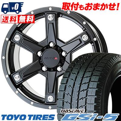 235/70R16 TOYO TIRES トーヨータイヤ OBSERVE GSi-5 オブザーブ GSi5 MKW MK-56 MKW MK-56 スタッドレスタイヤホイール4本セット