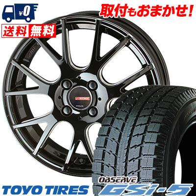 235/70R16 TOYO TIRES トーヨータイヤ OBSERVE GSi-5 オブザーブ GSi5 CIRCLAR RM-7 サーキュラー RM-7 スタッドレスタイヤホイール4本セット