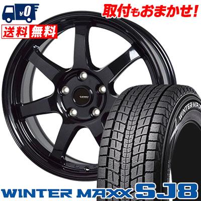 225/70R16 103Q DUNLOP ダンロップ WINTER MAXX SJ8 ウインターマックス SJ8 G.speed G-03 Gスピード G-03 スタッドレスタイヤホイール4本セット