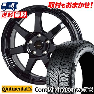 205/55R16 94T XL CONTINENTAL コンチネンタル ContiVikingContact6 コンチバイキングコンタクト6 G.speed G-03 Gスピード G-03 スタッドレスタイヤホイール4本セット
