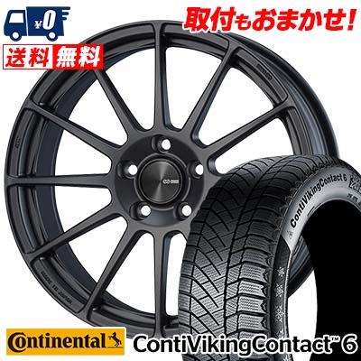 225/45R18 CONTINENTAL コンチネンタル ContiVikingContact6 コンチバイキングコンタクト6 ENKEI PF03 エンケイ PF03 スタッドレスタイヤホイール4本セット