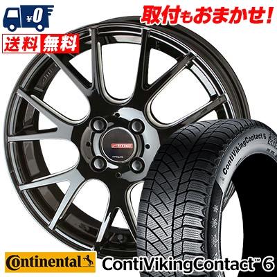195/60R16 CONTINENTAL コンチネンタル ContiVikingContact6 コンチバイキングコンタクト6 CIRCLAR RM-7 サーキュラー RM-7 スタッドレスタイヤホイール4本セット【取付対象】