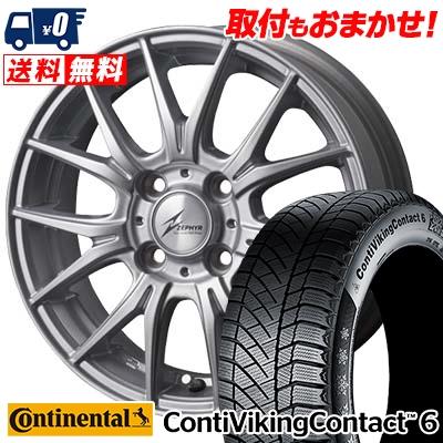 185/65R15 CONTINENTAL コンチネンタル ContiVikingContact6 コンチバイキングコンタクト6 ZEPHYR M2 ゼファー M2 スタッドレスタイヤホイール4本セット