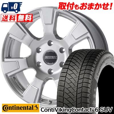 215/65R16 CONTINENTAL コンチネンタル ContiVikingContact6 SUV コンチバイキングコンタクト6 SUV ESSEX ES エセックス ES スタッドレスタイヤホイール4本セット