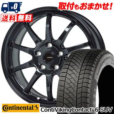 215/65R16 102T XL CONTINENTAL コンチネンタル ContiVikingContact6 SUV コンチバイキングコンタクト6 SUV G.speed G-04 Gスピード G-04 スタッドレスタイヤホイール4本セット