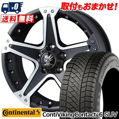 215/65R16 CONTINENTAL コンチネンタル ContiVikingContact6 SUV コンチバイキングコンタクト6 SUV MUD VANCE01 マッドヴァンス01 スタッドレスタイヤホイール4本セット