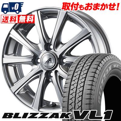 165R13 8PR BRIDGESTONE ブリヂストン BLIZZAK VL-1 ブリザック VL1 AZ sports YL-10 AZスポーツ YL-10 スタッドレスタイヤホイール4本セット