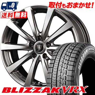 225/45R18 BRIDGESTONE ブリヂストン BLIZZAK VRX ブリザック VRX Euro Speed G10 ユーロスピード G10 スタッドレスタイヤホイール4本セット