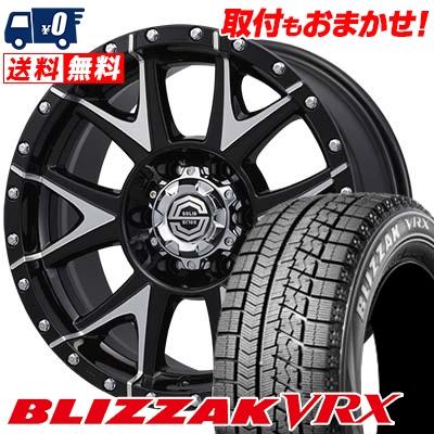 215/65R16 BRIDGESTONE ブリヂストン BLIZZAK VRX ブリザック VRX SOLID RACING Gmetal ソリッドレーシング Gメタル スタッドレスタイヤホイール4本セット