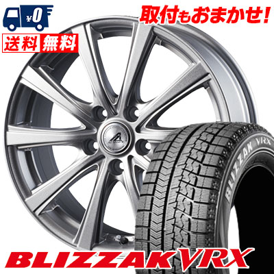 195/60R16 BRIDGESTONE ブリヂストン BLIZZAK VRX ブリザック VRX AZ sports YL-10 AZスポーツ YL-10 スタッドレスタイヤホイール4本セット