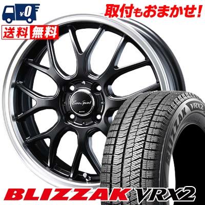 165/50R16 BRIDGESTONE ブリヂストン BLIZZAK VRX2 ブリザック VRX2 Eoro Sport Type 805 ユーロスポーツ タイプ805 スタッドレスタイヤホイール4本セット