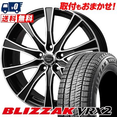 215/60R17 BRIDGESTONE ブリヂストン BLIZZAK VRX2 ブリザック VRX2 Warwic Carozza ワーウィック カロッツァ スタッドレスタイヤホイール4本セット