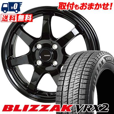 175/65R14 82Q BRIDGESTONE ブリヂストン BLIZZAK VRX2 ブリザック VRX2 G.speed G-03 Gスピード G-03 スタッドレスタイヤホイール4本セット