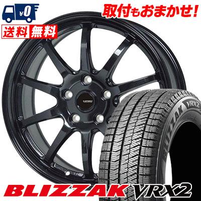 215/50R18 92Q BRIDGESTONE ブリヂストン BLIZZAK VRX2 ブリザック VRX2 G.speed G-04 Gスピード G-04 スタッドレスタイヤホイール4本セット
